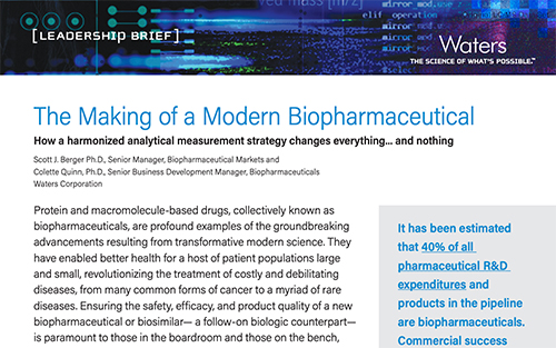 Case Study - The Making of a Modern Biopharmaceutical Cover